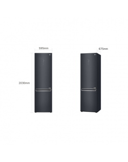 LG Refrigerator GBB92MCAXP Free standing, Combi, Height 203 cm, A+++-10%, No Frost system, Fridge net capacity 277 L, Freezer ne