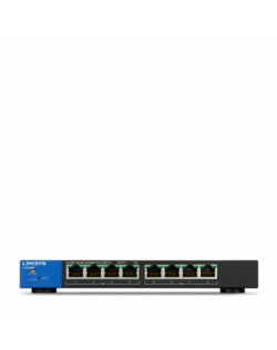 Linksys Swicth LGS308P Web Management, Desktop, 1 Gbps (RJ-45) ports quantity 8, PoE+ ports quantity 8, Power supply type Single