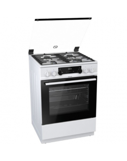 Gorenje Cooker K634WF Hob type Gas, Oven type Electric, White, Width 60 cm, Electronic ignition, Grilling, LED, 71 L, Depth 60 c