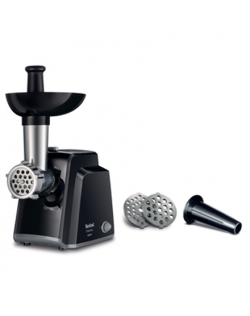 TEFAL Meat mincer NE105838 Black, 1400 W, Number of speeds 1, Throughput (kg/min) 1.7, The set includes 3 stainless steel sieves