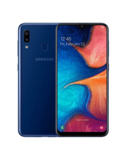 "Samsung Galaxy A20e Blue, 5.8 "", PLS TFT, 720 x 1560, Exynos 7884, Internal RAM 3 GB, 32 GB, microSD, Dual SIM, Nano-SIM, 3G, 4G, Main camera Dual 13+5 MP, Secondary camera 8 MP, Android, 9.0, 3000 mAh"