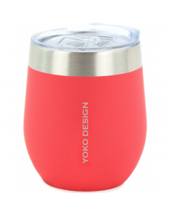 Yoko Design Isotherm mug with cup Isothermal, Red, Capacity 0.25 L, Bisphenol A (BPA) free
