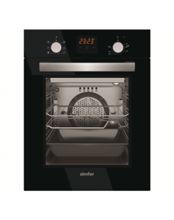 Simfer Oven 4207BERSP 47 L, Black, Easy to clean, Pop-up knobs, Width 45 cm, Built in