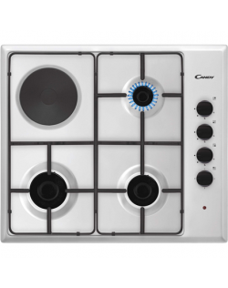 Candy Hob CMG3H1X Gas/Electric 3+1, Number of burners/cooking zones 4, Mechanical, Stainless steel