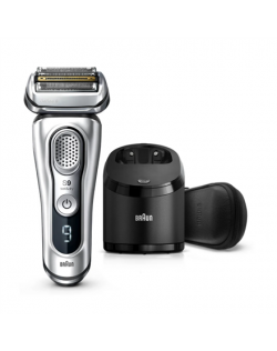 Braun Shaver Series 9 9390cc Operating time (max) 60 min, Lithium Ion, Number of shaver heads/blades 5, Silver, Cordless, Wet &