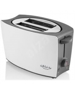 Gallet Toaster GALGRI219 White/Grey, Plastic, Number of slots 2, Number of power levels 8 levels