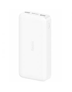 Xiaomi Fast Charge Power Bank Mi Redmi 20000 mAh, White