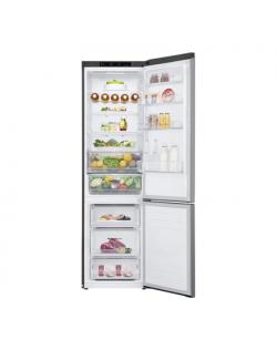 LG Refrigerator GBB62PZFFN Free standing, Combi, Height 203 cm, A+++, No Frost system, Fridge net capacity 277 L, Freezer net ca