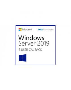 Dell Windows Server 2019/2016 User CALs (STD or DC) Cus Kit, 5-pack