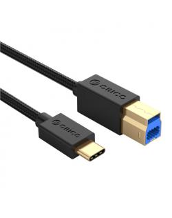 Orico Type-C to USB-B Data Cable U3-FBC02-05-BK-BP 0.5 m, USB Type A Male, B-Square Male