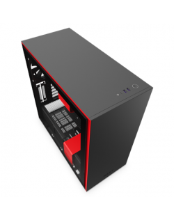 NZXT H710 Side window, Black/Red, ATX, Power supply included No
