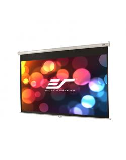"Elite Screens Manual Series M106XWH Diagonal 106 "", 16:9, Viewable screen width (W) 235 cm, White"