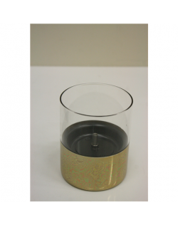 SALE OUT. Tenderflame Table burner Lilly 1W Glass Gold, DEMO, SCRATCHED