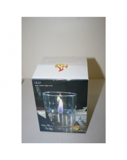 SALE OUT. TenderFlame, 1W Glass, Lilly 10 cm, Silver Tenderflame Table burner Lilly 1W Glass Silver, DEMO, NOT USED, SCRATCHED,