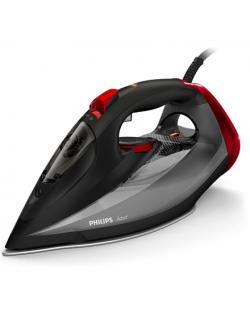 Philips Iron Azur GC4567/80 Steam Iron, 2600 W, Continuous steam 50 g/min, Steam boost performance 250 g/min, Black/Red