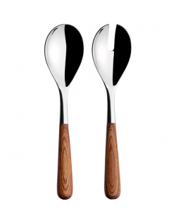 IITTALA Piano Serving Set, Wooden Handle, 2 pcs