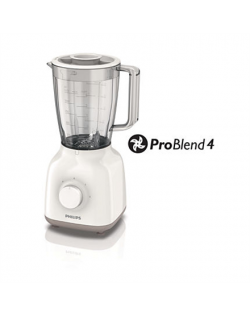 Philips Blender Daily Collection HR2100/00 Tabletop, 400 W, Jar material Plastic, Jar capacity 1.5 L, White
