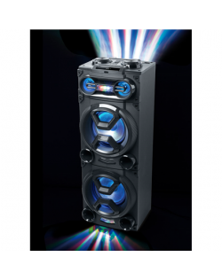 Muse M-1986 DJ Speaker, Wired, Bluetooth, Black Muse