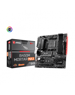MSI B450M MORTAR MAX Processor family AMD, Processor socket AM4, DDR4, Memory slots 4, Chipset AMD B, Micro ATX