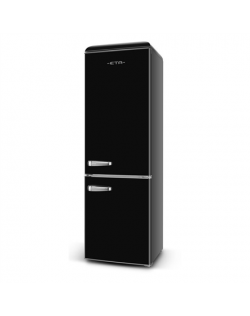 ETA Refrigerator Retro ETA253290020 A++, Free standing, Combi, Height 192 cm, Fridge net capacity 216 L, Freezer net capacity 84 L, 42 dB, Black