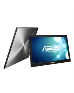 """Asus Portable LCD MB168B 15.6 """", TN, HD ready, 1366 x 768 pixels, 11 ms, 200 cd/m², Black, Silver, USB 3.0, USB-powered, Ultra-s"""