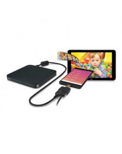 H.L Data Storage Ultra Slim Portable DVD-Writer GP95NB70 Interface USB 2.0, DVD±RW, CD read speed 24 x, CD write speed 24 x, Bla