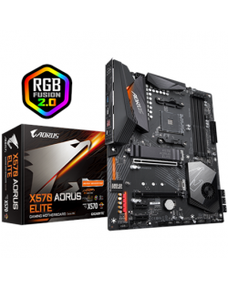 Gigabyte X570 AORUS ELITE Processor family AMD, Processor socket AM4, DDR4 DIMM, Memory slots 4, Number of SATA connectors 6 x S