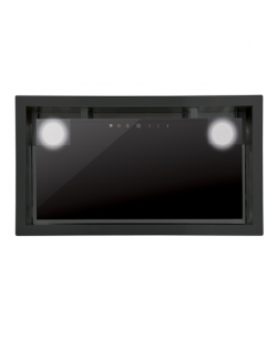 CATA GC Dual BK 45 Energy efficiency class D, Canopy, Width 49.2 cm, 820 m³/h, Touch control, Black glass, LED