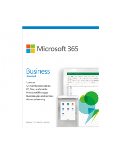 Microsoft 365 Business Standard KLQ-00469 License term 1 year(s), Latvian, Medialess, P6