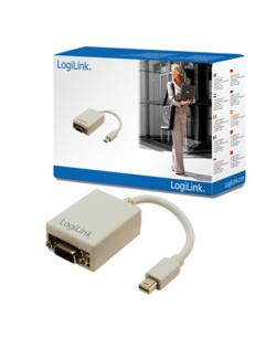 Logilink Mini DisplayPort to VGA Adapter: HD DSUB 15-pin FM, Mini DisplayPort M