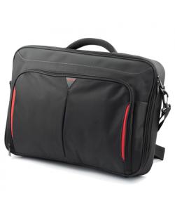 Targus Clamshell Laptop Bag CN418EU Black/Red, Shoulder strap, Briefcase