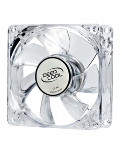deepcool Xfan 80 mm, transparent frame with blue LED, 3Pin/2pin case ventilation fan