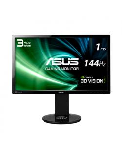"""Asus Gaming LCD VG248QE 24 """", TN, Full HD, 1920 x 1080 pixels, 16:9, 1 ms, 350 cd/m², Black, up to 144Hz, 3D Vision Ready, DP, D"""