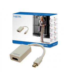 Logilink Adapter Mini DisplayPort to HDMI with Audio: HDMI A, Mini DisplayPort