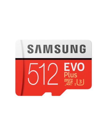 Samsung microSD Card Evo Plus 512 GB, MicroSDXC, Flash memory class 10, SD adapter