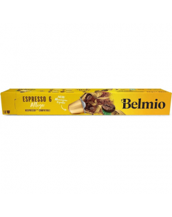 Belmoca Belmio Sleeve Espresso Allegro Coffee Capsules for Nespresso coffee machines, 10 capsules, Coffee strength 6/12, 100 % A