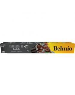 Belmoca Belmio Sleeve Espresso Ristretto Coffee Capsules for Nespresso coffee machines, 10 capsules, Coffee strength 10/12, 100