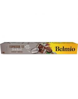 Belmoca Belmio Sleeve Espresso Extra Dark Roast Coffee Capsules for Nespresso coffee machines, 10 capsules, Coffee strength 12/1