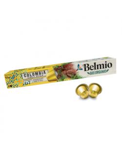 Belmoca Belmio Sleeve BIO/Single Origine Colombia Coffee Capsules for Nespresso coffee machines, 10 aluminum capsules, Coffee st