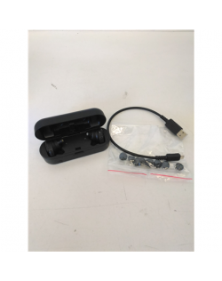SALE OUT. Audio Technica ATH-CKR7TW Headphones, In-Ear, Wireless, Microphone, Black Audio Technica REFURBISHED USED, Warranty 3