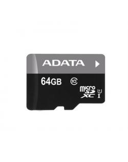 ADATA Premier UHS-I 64 GB, MicroSDXC, Flash memory class 10, SD adapter