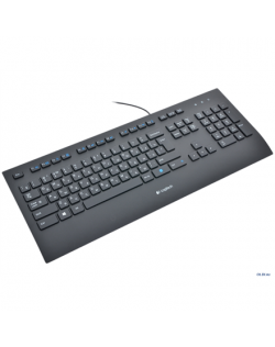 Logitech K280E Comfort Keyboard, Keyboard layout QWERTY, 1,6 m m, USB, Black, Russian, Numeric keypad