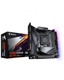 Gigabyte Z490I AORUS ULTRA 1.1 Processor family Intel, Processor socket LGA1200, DDR4 DIMM, Memory slots 2, Number of SATA conne