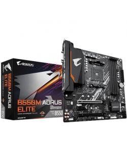 Gigabyte B550M AORUS ELITE 1.0 Processor family AMD, Processor socket AM4, DDR4 DIMM, Memory slots 4, Number of SATA connectors