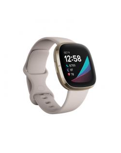 Fitbit Sense Smart watch, GPS (satellite), AMOLED, Touchscreen, Heart rate monitor, Activity monitoring 24/7, Waterproof, Blueto
