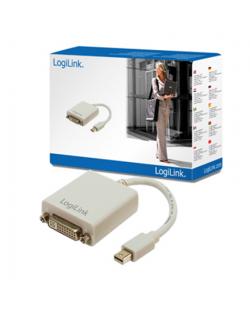 Logilink Adapter Mini Display Port TO DVI Converter: DVI-I FM, Mini DisplayPort M