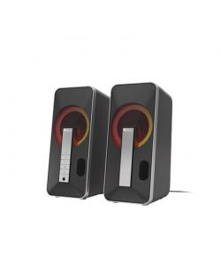 Genesis Computer Speaker Helium 100BT RGB Gaming Speakers, Bluetooth, Silver/Black