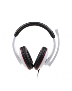 Gembird MHS-001-GW Stereo headset 3.5 mm, Glossy white, Built-in microphone