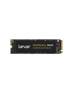 Lexar NVMe SSD Professional NM700 512 GB, SSD form factor M.2 2280, SSD interface PCIe Gen3x4, Write speed 2000 MB/s, Read speed