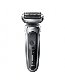 Braun Shaver 70-S7200cc Cordless, Charging time 1 h, Lithium Ion, Number of shaver heads/blades 3, Black/Silver, Wet & Dry
